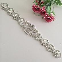 TRLYC White Ribbon Sash New Hot Sell Bridal Sash Belt, Wedding Dress Belts Sashes, Wedding Sash Belt