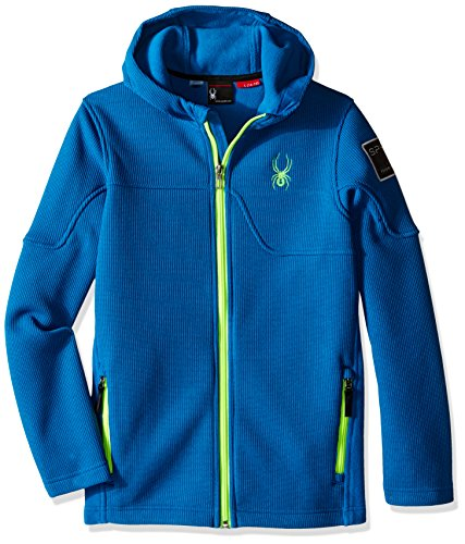 Spyder Boys Upward Mid WT Stryke Fleece Shirt, Concept Blue/Bryte Green, XX-Small