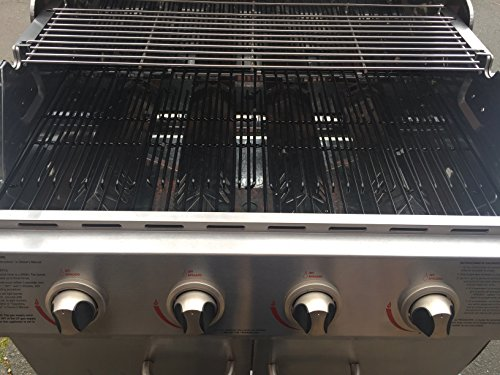 Brinkmann Set of Four adjustable porcelain coated cooking grids (total width 32 inches) for, Char-broil, Kenmore, Master Chef and other grill models