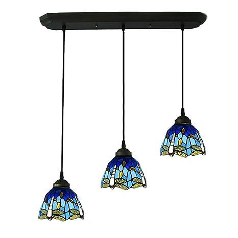 CCSUN Libélula Estilo Tiffany Iluminación Colgante, Creativo ...