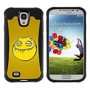 LASTONE PHONE CASE / Suave Silicona Caso Carcasa de Caucho Funda para Samsung Galaxy S4 I9500 / Troll Smiley Face