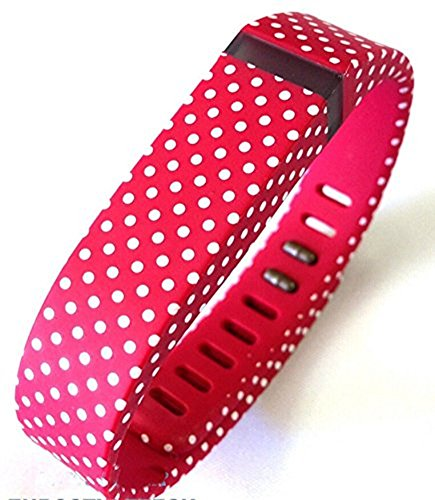 Small S Black with White Dots Spots Replacement Band With Clasp for Fitbit  FLEX Only /No tracker/ Wireless Activity Bracelet Sport Wristband Fit Bit