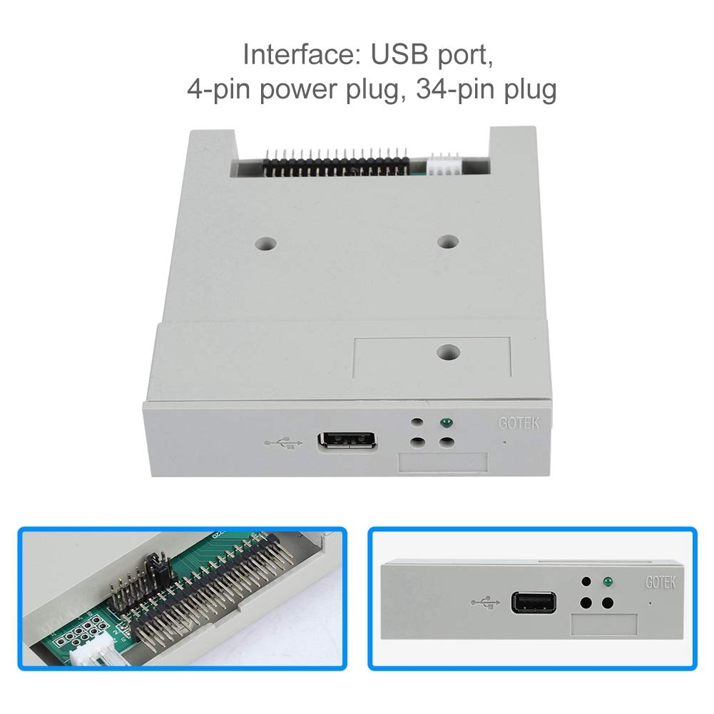 fosa USB Floppy Emulator, SFR1M44-U 3.5In 1.44MB USB SSD Floppy Drive Emulator Updated Version USB Flash Plug and Play with CD Screws for Floppy Disk Drive Industrial Control Equipment by fosa (Image #6)