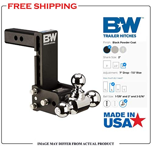 B/&W TS10049B Tow and Stow Magnum Receiver Hitch Ball Mount