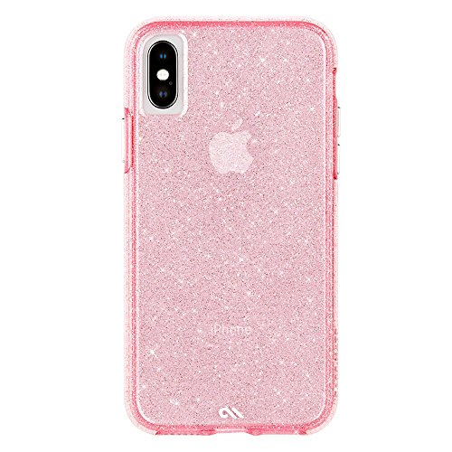 Case-Mate - iPhone X Case - Sheer Crystal - Twinkling Glass Crystal - Fashion Cell Phone Case - iPhone 10 - Crystal Pink ()