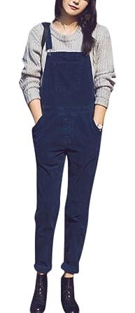 366097cf50ab Amazon.com  GALMINT Women s Trendy Jumpsuit Bibs Overalls Sleeveless ...