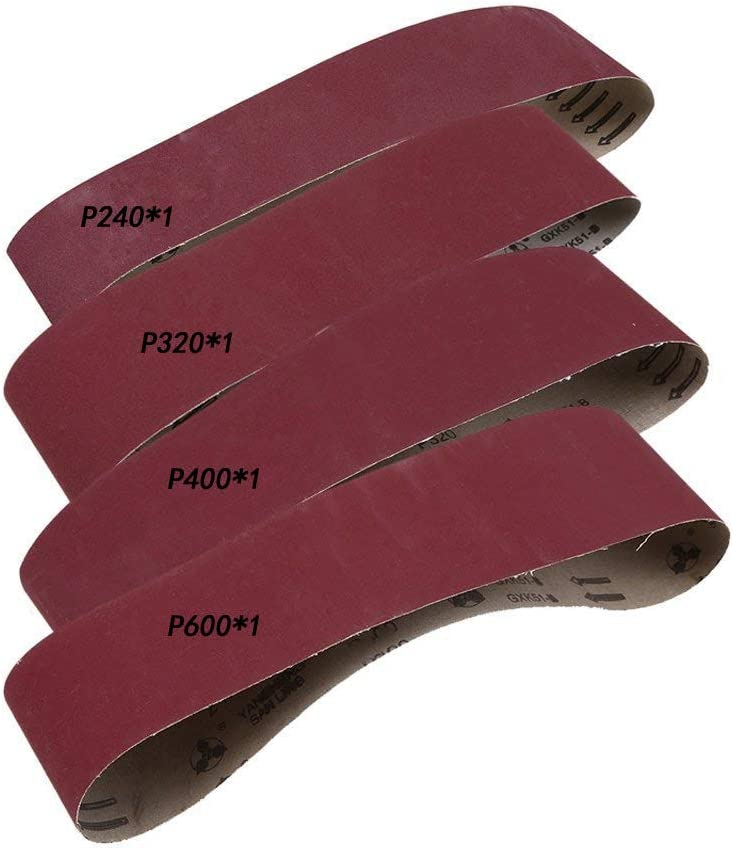 40//60//80//120-Grit Bande Ceinture Abrasif Polissage Ponçage Alumine  Ponceuse