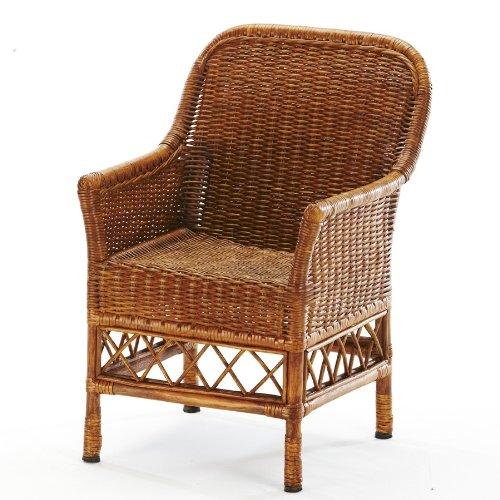 Home Essentials 62188 Kindergarden Ratt Baby Arm Chair, Honey