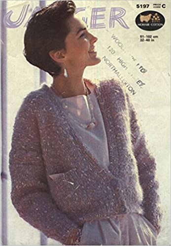 Jaeger Knitting Pattern 5197 Ladys Boxy Mohair Cardigan 32 40in