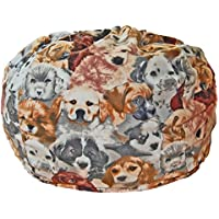 Ahh! Products Puppies Anti-Pill Fleece Washable Large Bean Bag Chair