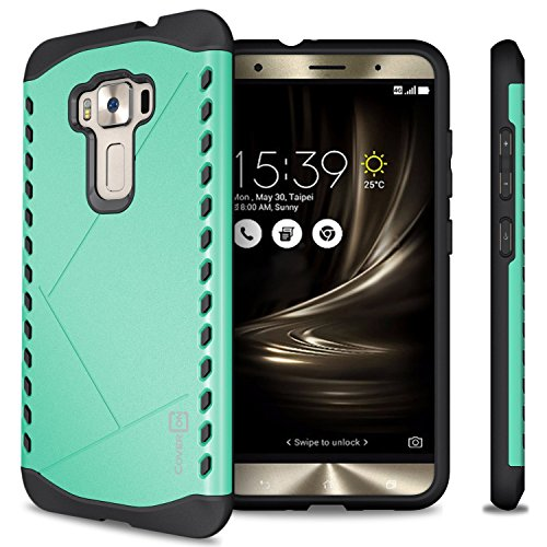 Asus Zenfone 3 Case (5.5) ZE552KL, CoverON [Paladin Series] Slim Fit Hard Protective Modern Style Phone Case for Asus Zenfone 3 (5.5) - Teal Mint