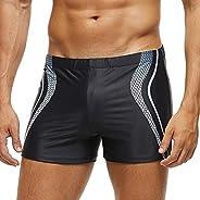 ZWRJDOMUM Men's Tight Swimming Trunks(
