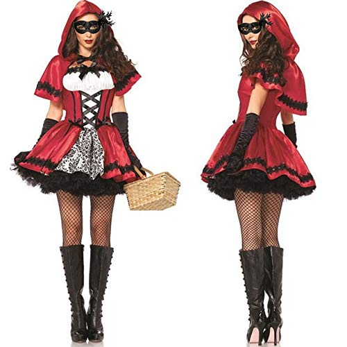 Party Diy Decorations - Halloween Costumes Cosplay Little Red Riding Hood Fantasy Game Uniforms Fancy Outfit Party Holiday - Riding For Flirt Adult Arabian. Decor Bloodied Decoration It Costume ()