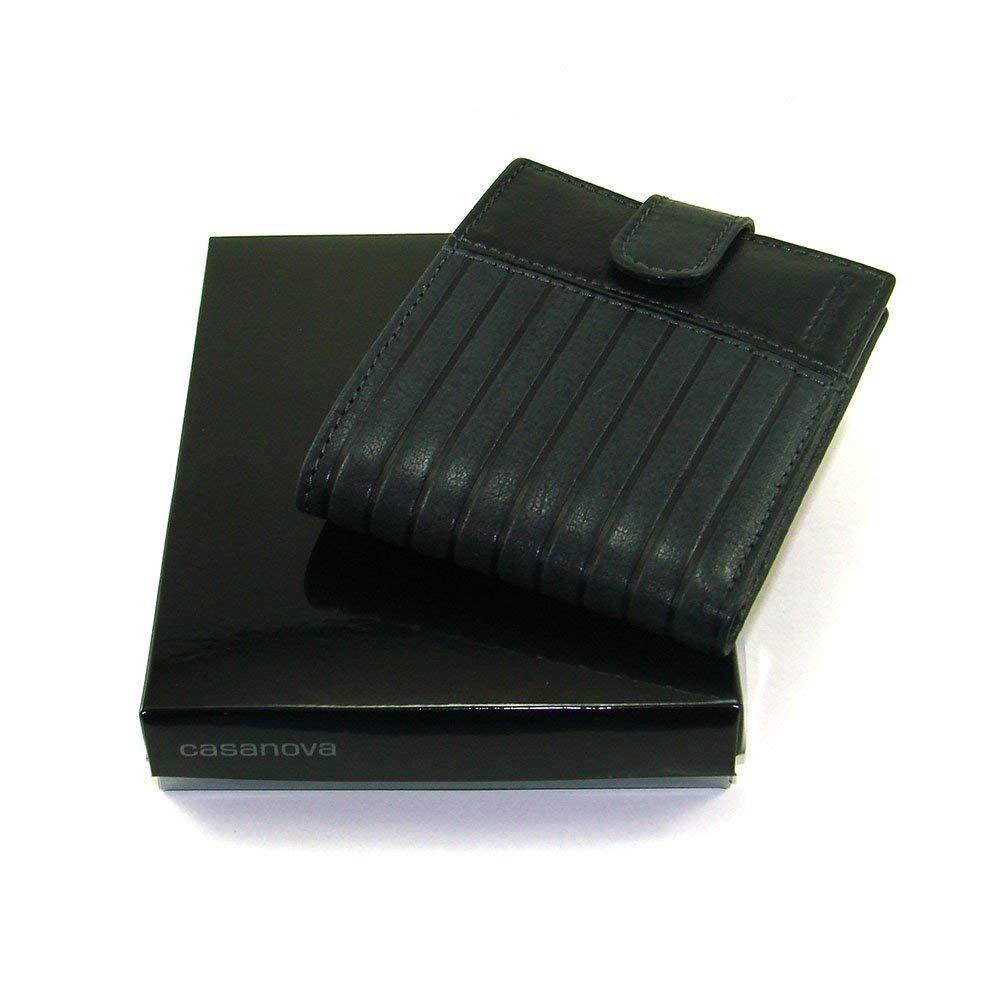 Cartera para hombre, hecho a mano en España, marca casanova, hecha en piel de vacuno, Ref. 14893 Negro: Amazon.es: Handmade