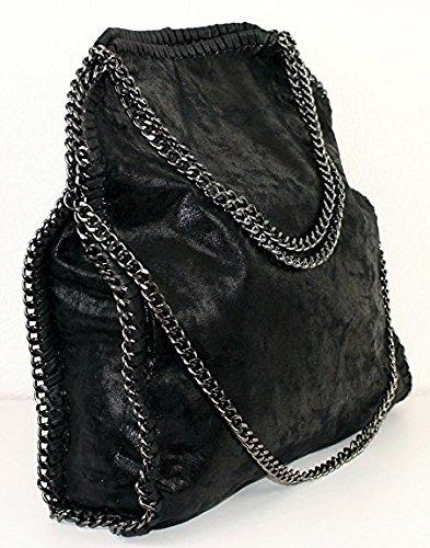 Spalla Da Con Mano Borsa Nero Leatherlook A Vivien 01 Borse Anush Donna Catena xz0qAYwCzO