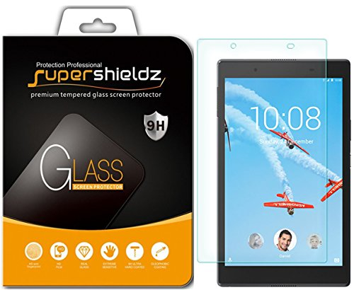 Supershieldz for Lenovo Tab 4 8 (8 inch) Tempered Glass Screen Protector, Anti-Scratch, Anti-Fingerprint, Bubble Free, Lifetime Replacement Warranty