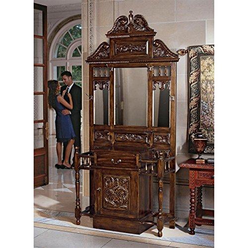 Design Toscano Edge Worth Manor Mahogany Hall - Mahogany Stand Hall