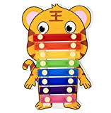 Polymer Musical Toys 8-Tone Chinese Zodiac Infant Child Octave Clappers Piano Percussion(Tiger)