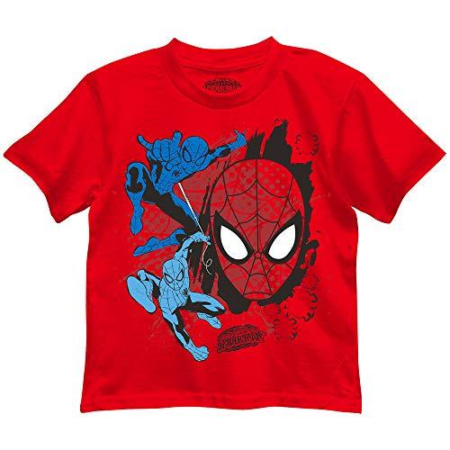 Marvel Boys' Little Spider-Man T-Shirt, red, 7