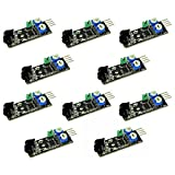 Optimus Electric 10pcs Digital Infrared Obstacle Avoidance Sensor with 2cm to 30cm Detection Range for Arduino Smart Car Robots from