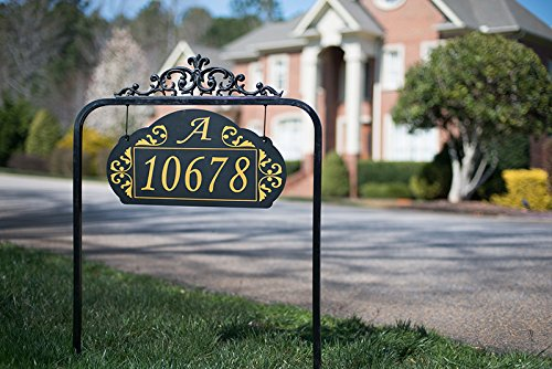 Address America Yard sign Le Paris Estate by Custom House Nu