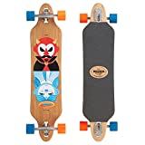 Madrid Twin-Tip Drop-Thru Longboard, Tombstone Good&Evil Bamboo 38.375inch (97,47 cm), Komplettboard