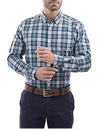 Camisa Sport Manga Larga Regular Fit Verde Medio