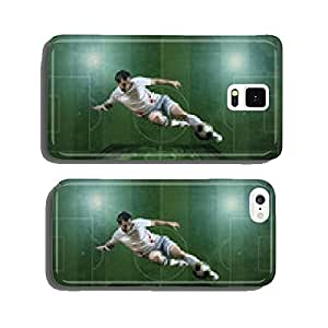 Player in action at the grunge football field. cell phone cover case Samsung S6