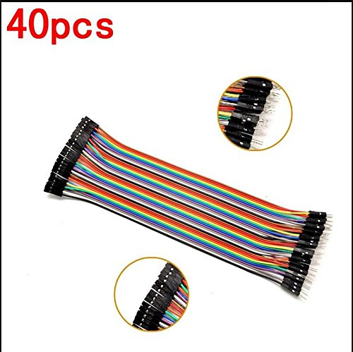 KINWAT male to female dupont line 40pcs dupont cable jumper wire dupont line 2.54MM 20cm for arduino SKUGM