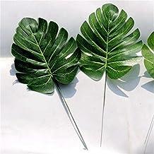 Bazaar 1 x Green Artificial Monstera Palm Spray Fern Leaf Plant Tree Branch Wedding Decor
