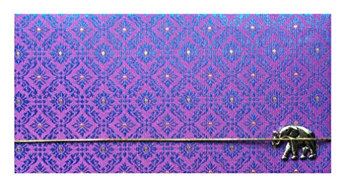 Violet Thai Silk Blend Checkbook Cover for Top Tear Checks, Checkbook Holder for Women, Checkbook Wallet for Men, Check Writer Cover, Check Register Holder and Checkbook Keeper Wallet Writer