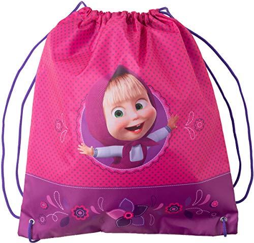 Bag for Shoes Masha and the Bear (9.4inch) Backpack Bag E Orso Kindergarten for Baby Preschool Bag Masha and the Bear, Baby Bag, Small Backpack Kids Cute Backpack Kindergarten Little Girl Rose Gray