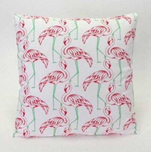 Cojín con Relleno Flamingo Muchos Flamencos Rosa Blanco ...