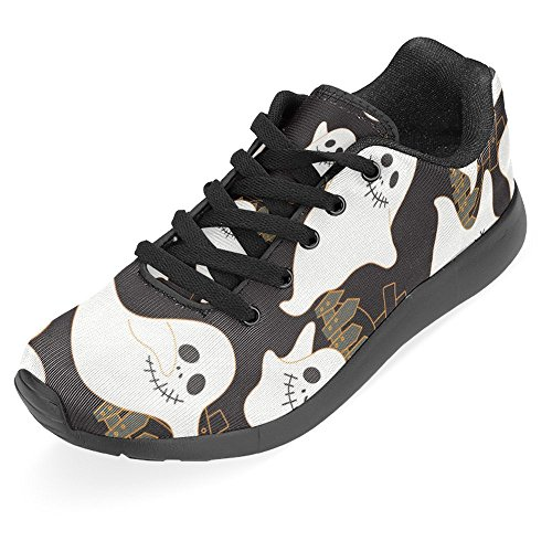 Interestprint Kvinna Jogging Kör Sneaker Lättvikts Gå Gång Casual Komfort Sports Löparskor Halloween Skrämmande Spöke Multi 1