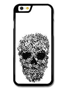 Skull with Flowers Pattern Black and White by Alexander Mcqueen case for iPhone 6
