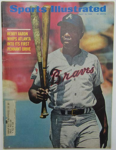 1969 Sports Illustrated Magazine with Hank Aaron Atlanta Braves on Cover 144472