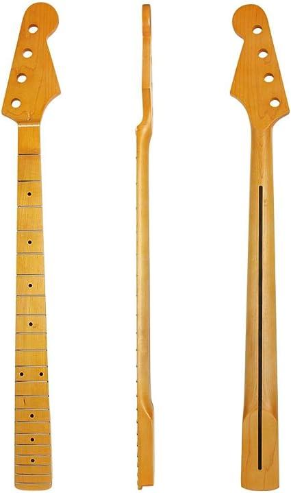 Cuello de guitarra 21 trastes, diapasón de arce para guitarra Jazz ...
