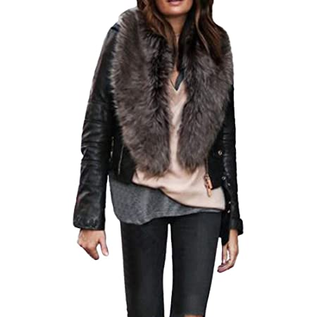 Amazon.com: Besde Womens Winter Faux Fur Collar Scarf Shawl ...