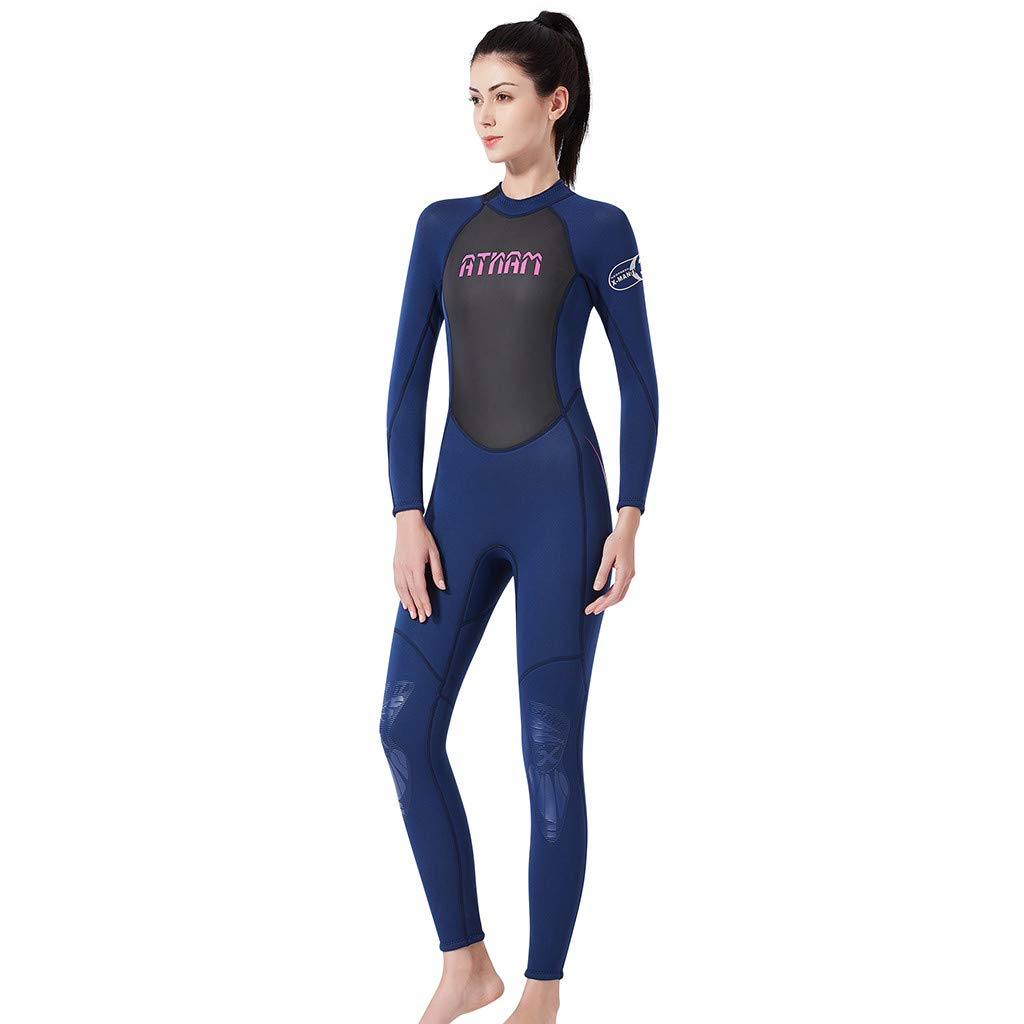 Women's Keep Warm Sunscreen Swimming,Surfing and Snorkeling Diving Coverall Suit by LUXISDE (Image #4)