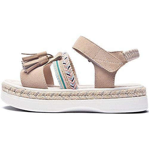 Verano Moda Casual Roma 5eu Para Velcro Nuevo Sohoeos De 35 La Plataforma Sandalias albaricoque Mujer Señoras qUWISw