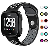 KIMILAR Sport Bands Compatible Fitbit Versa, Silicone Breathable Strap Replacement Bands with Ventilation Holes