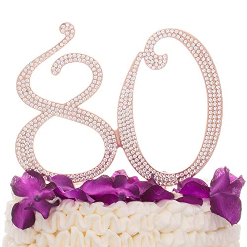 Ella Celebration 80 Cake Topper for 80th Birthday