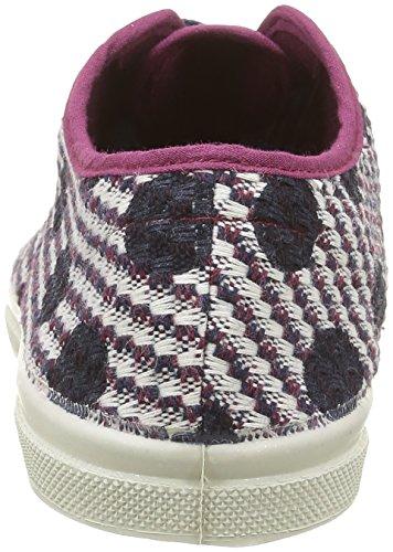 Bensimon Tennis Dots On Tweed - Zapatillas de deporte Mujer Multicolor - Multicolore(403 Bordeaux)