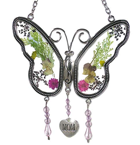 (BANBERRY DESIGNS Mom Butterfly Mother Suncatcher with Pressed Flower Wings - Butterfly Suncatcher - Mom Gifts - Gifts for Mom - Gifts for Mothers)