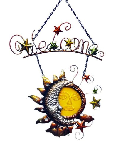 Continental Art Center CAC10279B Sun Wall Plaque, 22 by 14 by 1-Inch