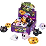 Kangaroo Spooky LED Light Up Rings 12 Pack