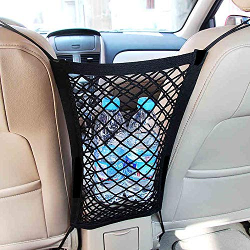 deYukiko Car Tidy Cargo Rear Trunk Seat Storage Organizer Pocket Elastic Mesh Net Bag