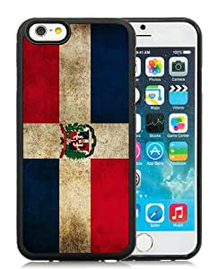 Dominican Republic Flag Black Best Buy Customized Design iPhone 6 4.7 Inch Silicone TPU Case