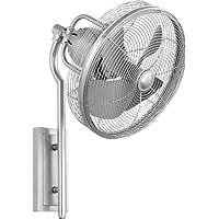 Quorum 92413-65, Veranda Satin Nickel 13 Outdoor Wall Fan with Wall Control