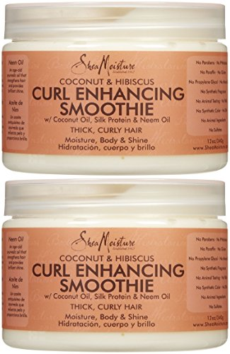 Curl Moisture (Shea Moisture Coconut and Hibiscus Curl Enhancing Smoothie 12 Once Pack Of)